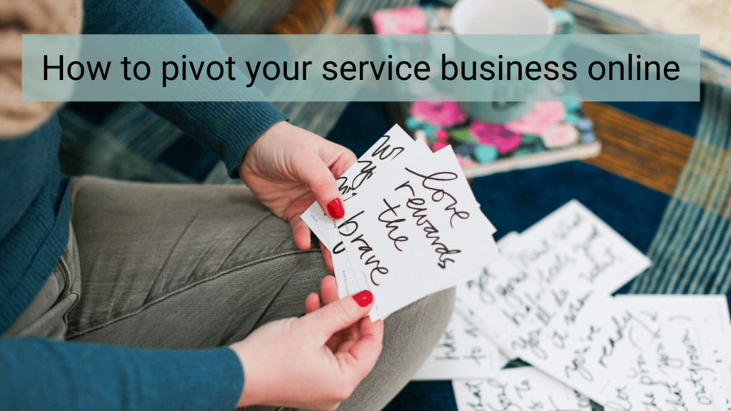 how to pivot your service business online
